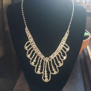 Faux Diamond necklace.